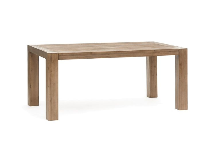 HAMBURG - Solid wood extendable dining table - Grey