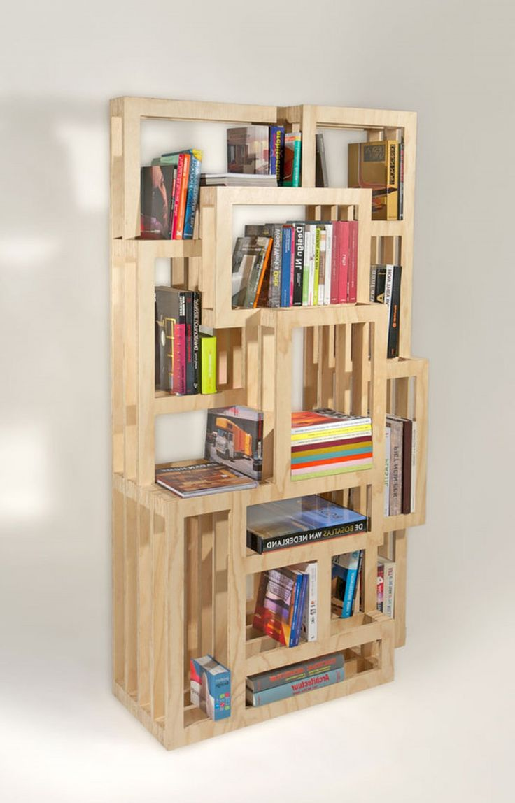 1000 ideas about homemade bookshelves on pinterest for Unique shelves diy