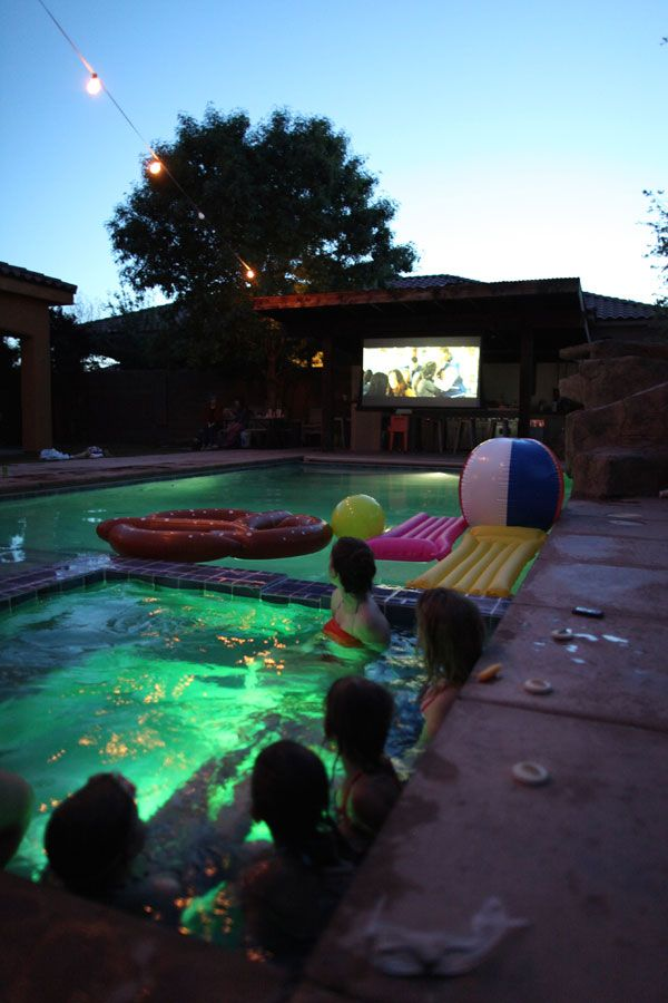 Pool Party Movie Night | Oh Happy Day!