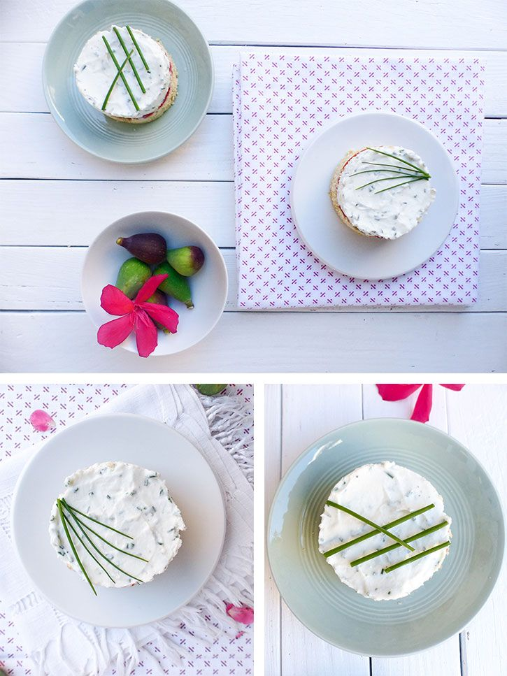 Cheesecake cru à la tomate et aux figues