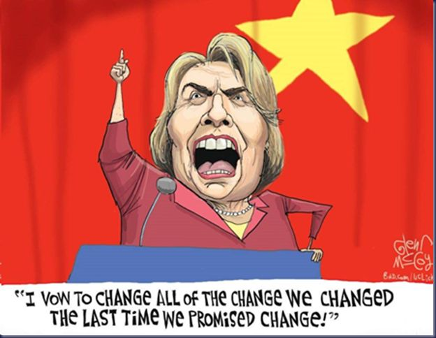 The Democrats mantra heard every four years. If you think Hillary's policies will differ from Obamas you are in for a surprise if she is elected. M.W. 10/3/16