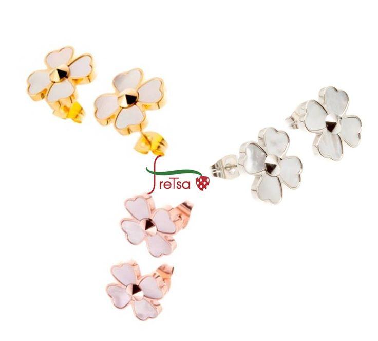 #pendientes en acero #flor
