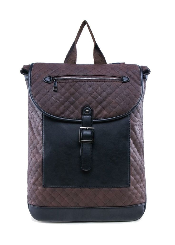 Quilted Faux Leather Backpack With Flap by Zalora. Unique bag made of quilted fabric and faux leather combination on the bottom, one main compartment, zipper closure, front pocket, inner pocket for your gadget, snap closure, perfect for school or short holiday.  http://www.zocko.com/z/JGr88