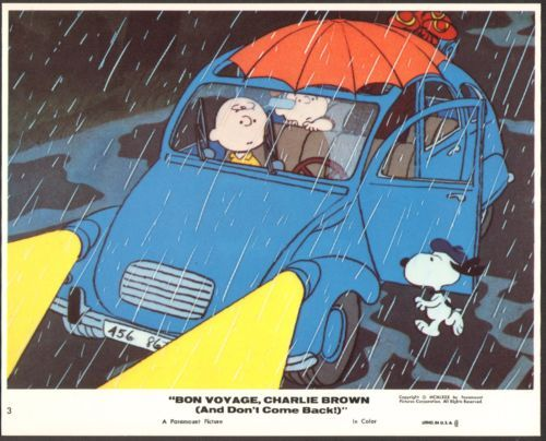 LOBBY CARD FROM......BON VOYAGE CHARLIE BROWN & DON'T COME BACK