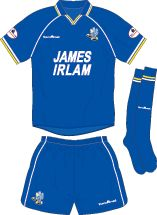 Macclesfield Town home kit for 2002-03.