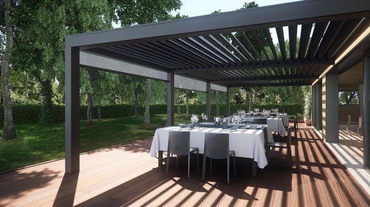 Pergola en aluminium / lames orientables - OPERA - Pratic F.lli Orioli Spa