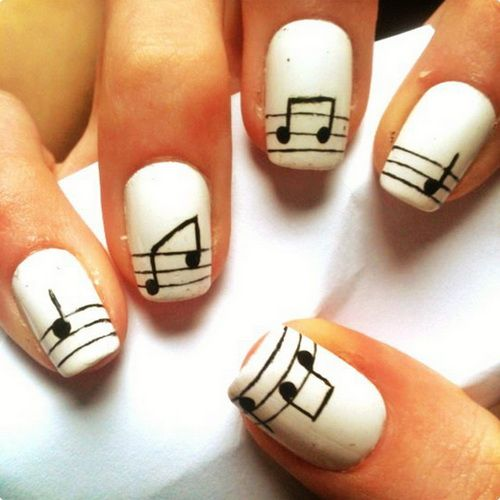 20 Cool Nail Designs for Short Nails this isn't that short but I love music and singing so these are perfect :)