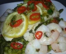 Steamed Fish with Vegetables, Chili, Lemon and a Basil Vinaigrette | Official Thermomix Recipe Community