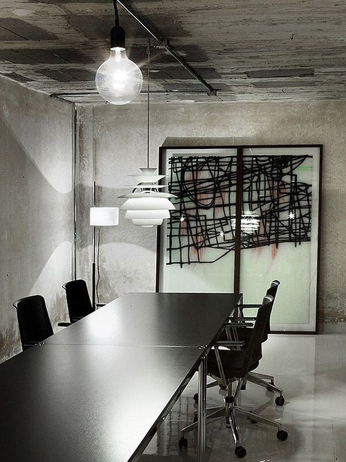 130 best interior office design ideas images on pinterest for Industrial office interior design