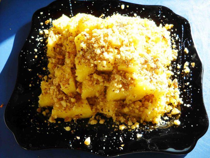ананасовый десерт, сыроедение рецепты, живая еда
