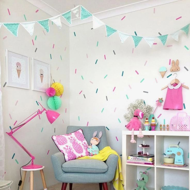 confetti wall decals in 2020 girl room room decor kids on wall stickers for kids id=82303