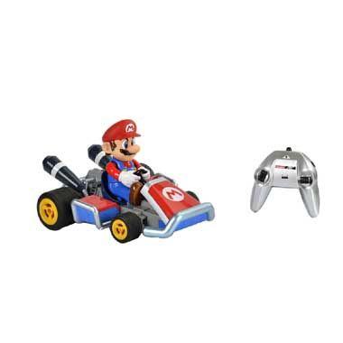 Op afstand bestuurbare Mario Kart wagen  Bestuur jouw eigen Mario Kart met dit RC voertuig! Race samen met jouw vrienden met dit levensechte Mario voertuig! Jij zal zeker winnen deze auto gaat namelijk wel 20 kilometer per uur!  EUR 64.99  Meer informatie
