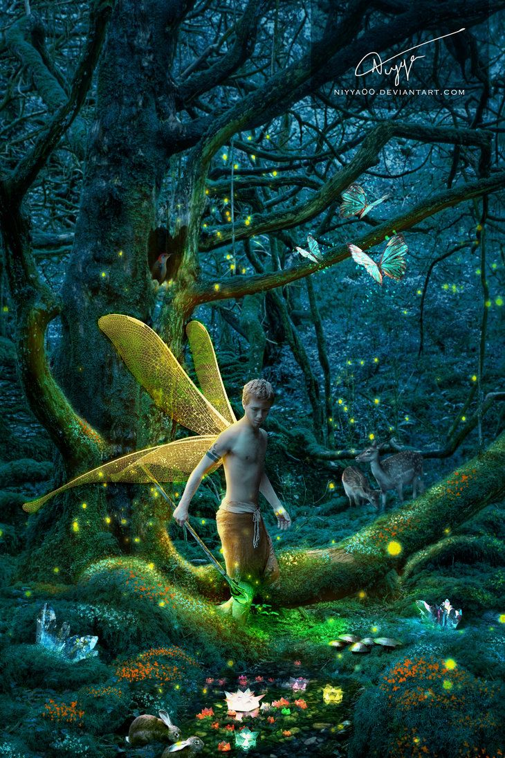 The Protector Of The Forest By Niyya00 Male Fairy Fairy Art