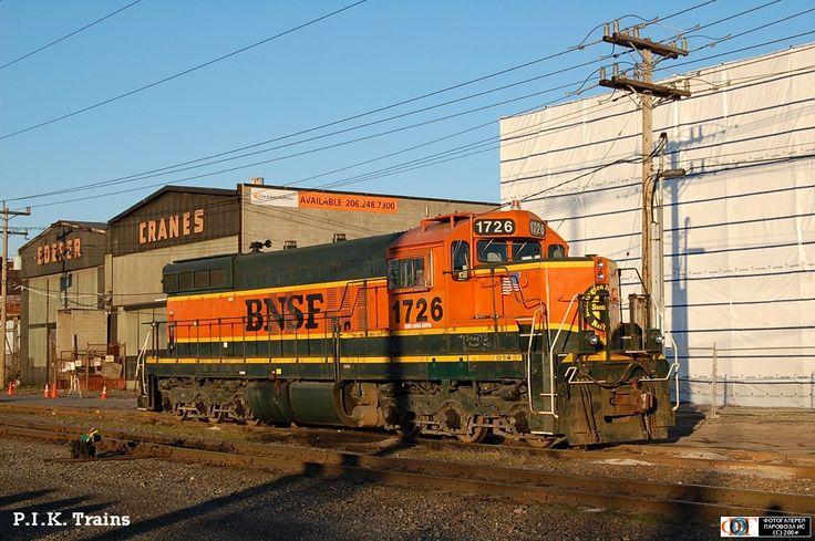 Тепловоз SD9-1726 компании BNSF, г. Сиэтл, США