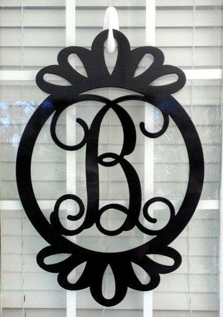 17 best ideas about initial door wreaths on pinterest