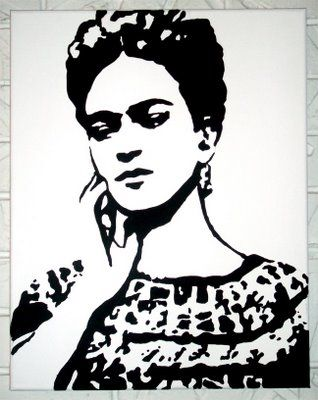 frida in black and white, pearmama