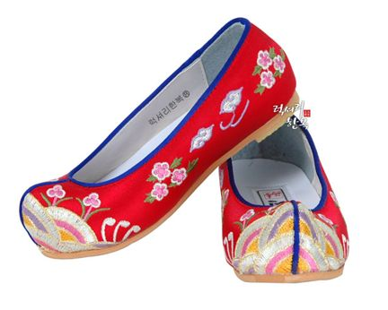 shoes. littleseouls.com $43 Girl's Red Hanbok Shoes-