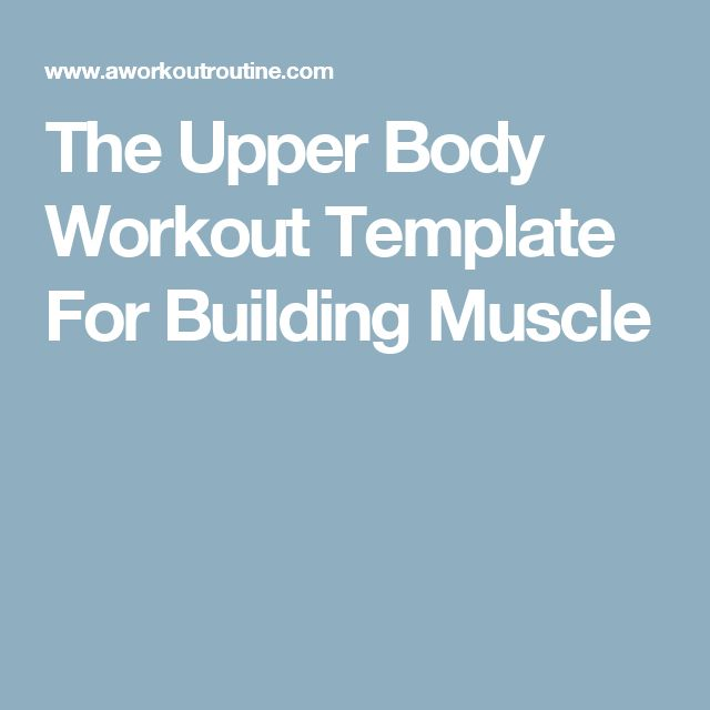 Best 25+ Workout Template Ideas Only On Pinterest | Chest And Back