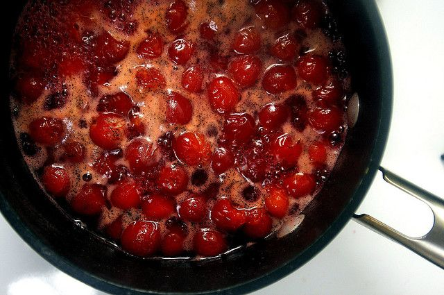 sour cherry compote by smitten, via Flickr