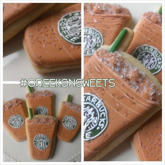 Starbucks Iced Latte Coffee Cup Cookies......Greeks-N