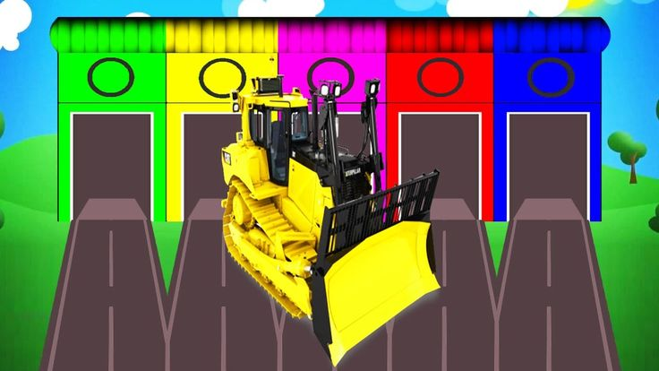 Learn Colors with Bulldozer Tractor - Educational Video | Cars Toys for ...