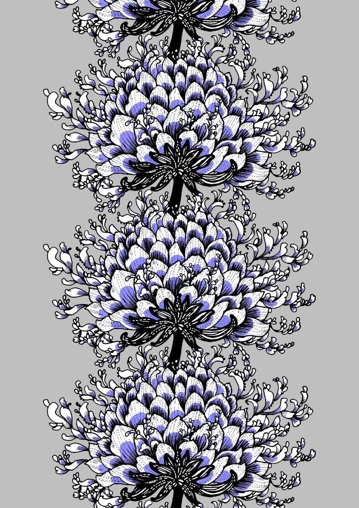 Vallila Interior Memento grey violet