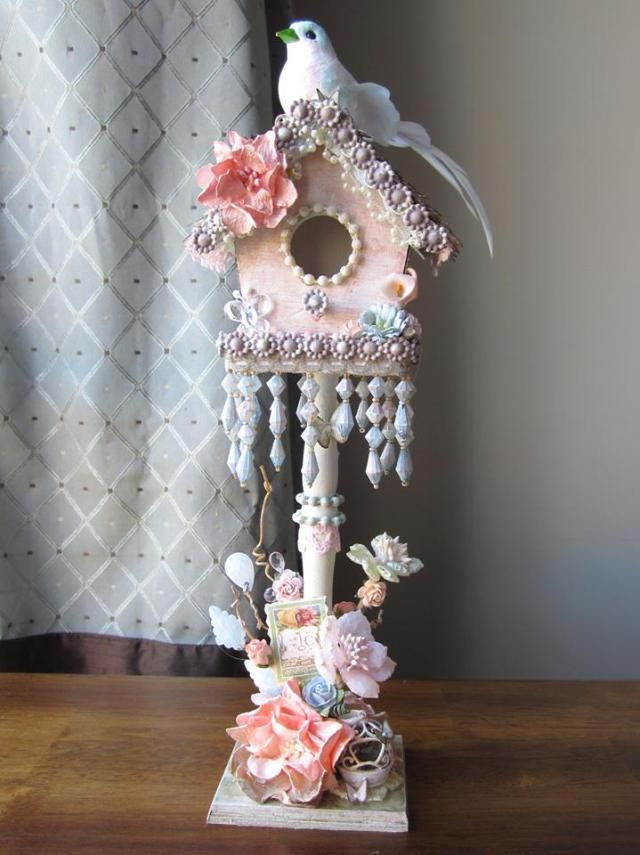 See Misty Busby's gorgeous bird house, created using Lindy's Stamp Gang products!