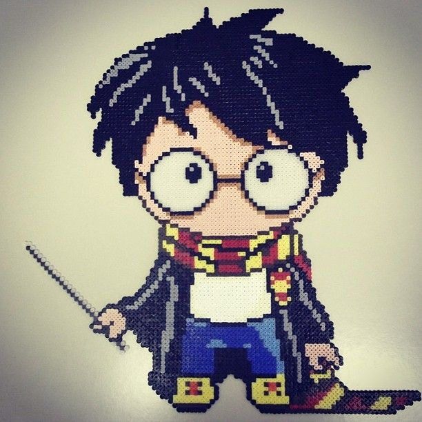 Harry Potter perler beads by pisces_artist_in_love