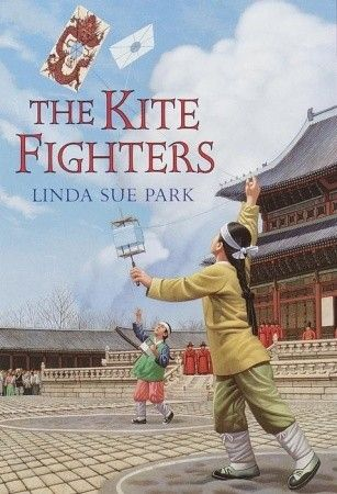The Kite Fighters by Linda Sue Park. Two brothers compete in a kite flying competition in Korea in the year 1473. Search our catalog for a book at http://tewksbury.mvlc.org/eg/opac/advanced