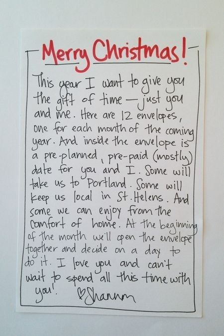 And while this may seem like a way to skimp on gift giving, write them a well-thought-out letter.