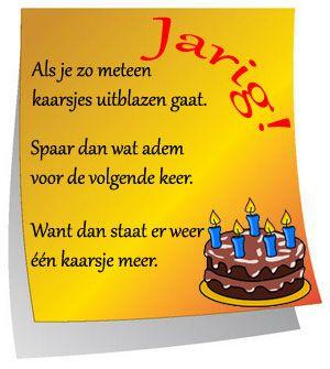 Tekst Voor Verjaardag