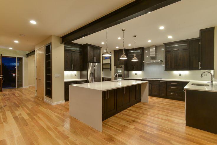 Sunnyside, Model Homes, GJ Gardner Homes Denver, cabinets and waterfall quartz counter