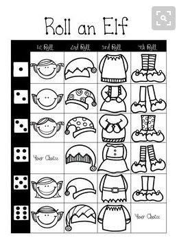 Játékos tanulás és kreativitás: Adventi várakozás 6. nap : Dobj és rajzolj egy ... manót