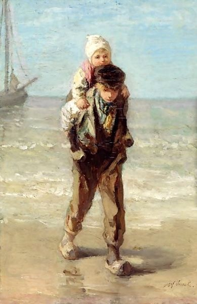 """""""Brothers and sisters are as close as hands and feet."""" ~JOZEF ISRAELS c. 1911 DUTCH)"""