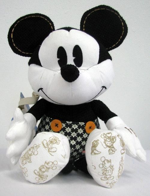 mickey mouse black and white plush products pinterest produkte mickey mouse und pl sch. Black Bedroom Furniture Sets. Home Design Ideas