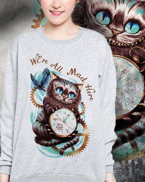 Raglan sweatshirt Cashire Cat collection
