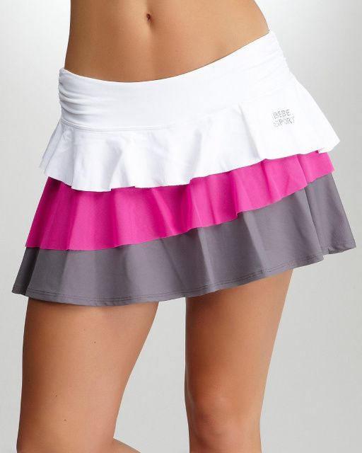 I JUST TEARED UP WHEN I SAW THIS OMG SO PRESH I NEED ONE <3 Cutest Tennis Skirt Everrr. I want it.