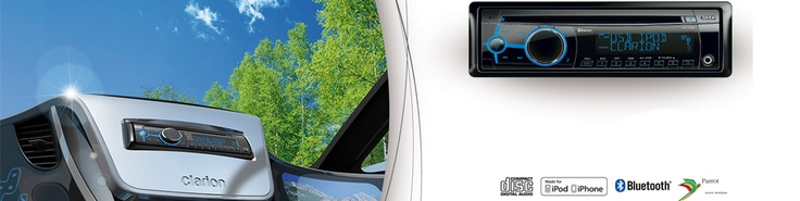 Clarion car stereos, with CD,MP3, AUX input, USB, Ipod control & bluetooth handsfree system
