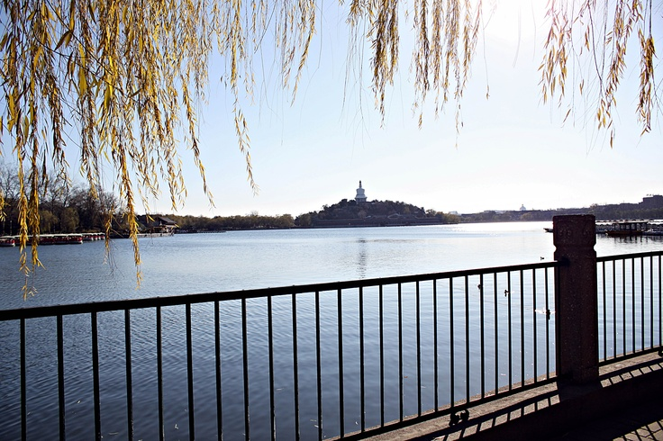 #Beijing Beihai Park #China #traveling White Pagoda & the lake