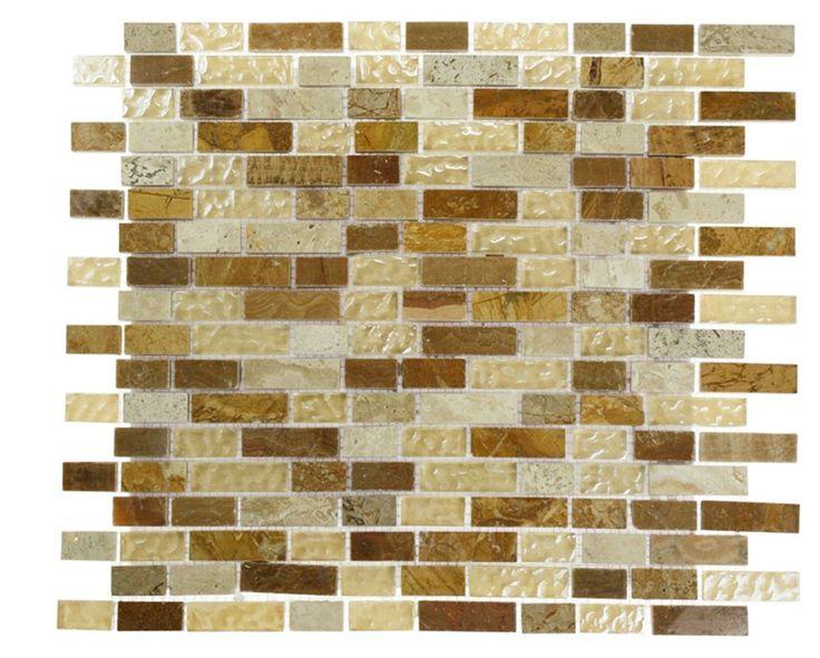 23 best tile wallpaper wall finishes images on pinterest for Tile wallpaper backsplash