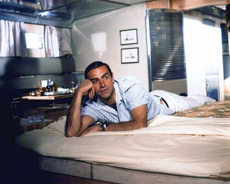 Sean Connery / during production of Terence Young's Thunderball (1965)