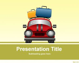 Travel Luggage PowerPoint template is a free PPT template background for travel presentations in PowerPoint #template #background #vacation #travel