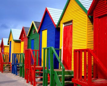 Colourful Cape Town Beach Huts