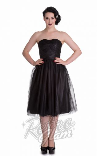 The Hell Bunny Tamara Dress is available in 4 colors & perfect for holiday parties or 2016 prom.   #pinup #retro #forties #50s #prom #50sprom  #retroglamclothing #retroglam #rowenaedmonton #holidays2015 #dress #vintageinspired #hellbunny