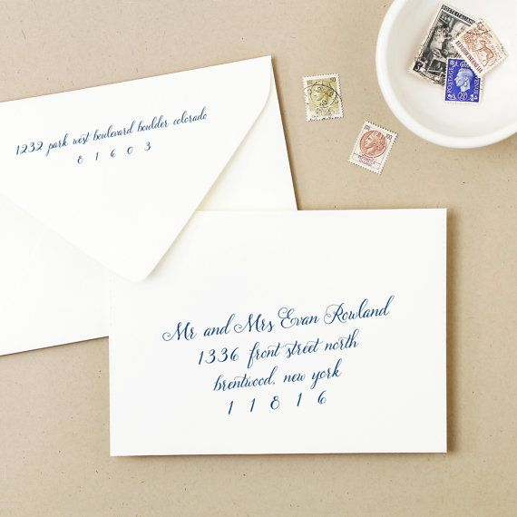 Handwritten Wedding Invitations Envelopes: Printable Wedding Envelope Template