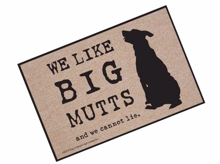 Funny Door Mat Doormat Indoor Outdoor Rubber Mats Dog Home Decor Rug Floor Rugs #FunnyDoorMatWeLikeBigMutts #Funny