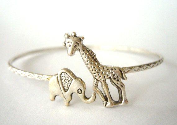 Giraffe & Elephant Bracelet. @Breane Wong ITS US!!!! <3