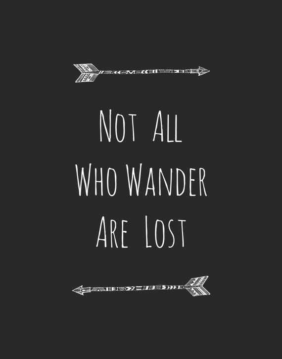 Not All Who Wander Are Lost Art Print by evadesignstudio on Etsy