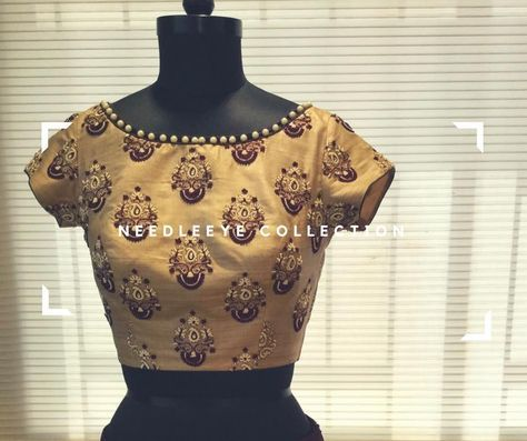 Needle eye continuously aim at putting their best efforts to create a outstanding design! Beautiful designer blouse with thread and pearl work. 05 June 2017