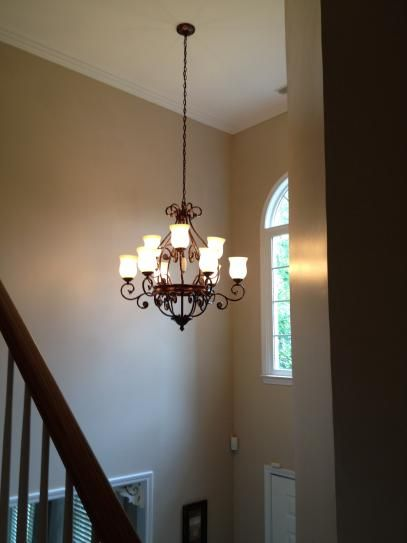 Hampton Bay Freemont Collection 9-Light Hanging Antique Bronze Chandelier-13387-013 - The Home Depot